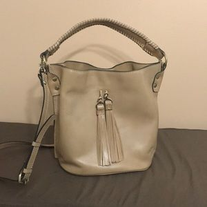 Tan leather Patricia Nash purse